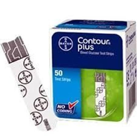 Picture of Bayer Contour Plus Blood Glucose Test Strip