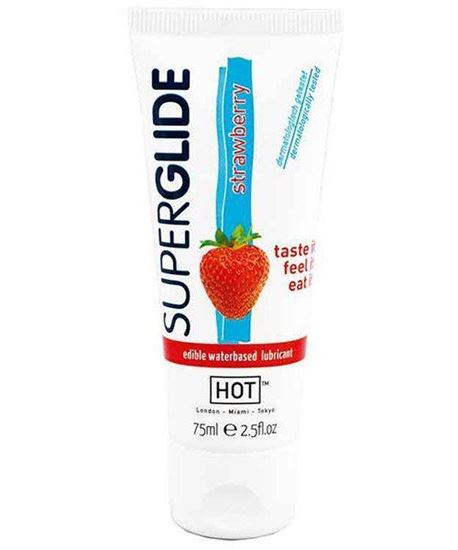 Picture of HOT Superglide Edible Waterbased Lubricant Strawberry