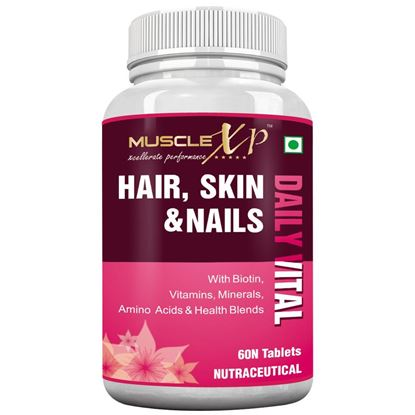 Picture of MuscleXP Hair, Skin & Nails Advanced Multivitamin Tablet