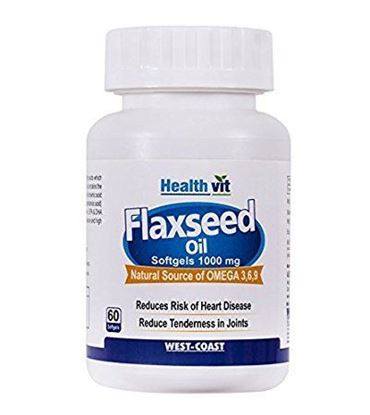 Picture of HealthVit Flaxseed Oil 1000mg Capsule