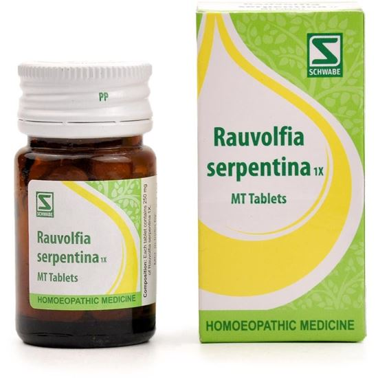 Picture of Willmar Schwabe India Rauvolfia Serpentina 1X Tablets