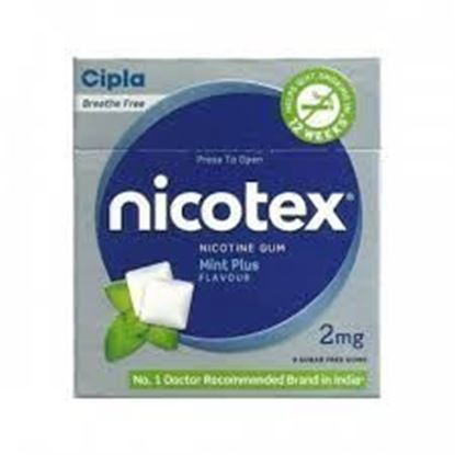 Picture of Nicotex 2mg Chewing Gums Tin Box Mint Plus