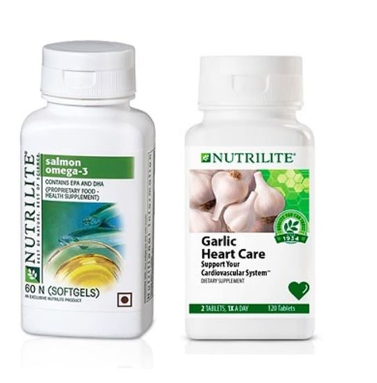 Picture of Amway Amway Nutrilite Salmon Omega 60 Capsule with Garlic Heart Care 60 Tablet