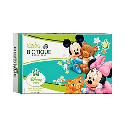 Picture of Biotique Baby Bio Almond Mickey Nourishing Soap Pack of 3
