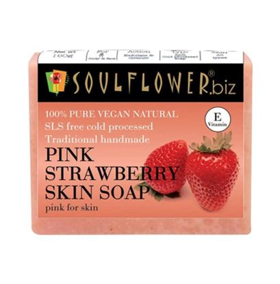 Picture of Soulflower Pink Strawberry Skin Soap