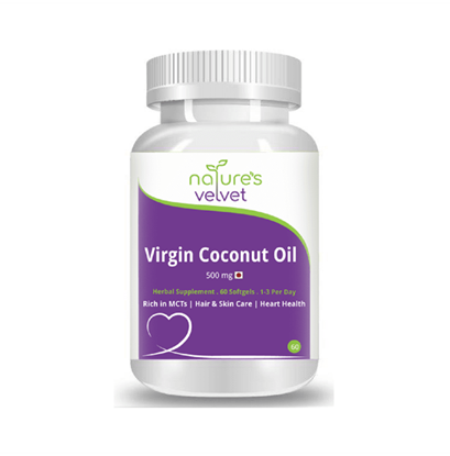 Picture of Natures Velvet Lifecare Lifecare Virgin Coconut Oil 500mg Softgels