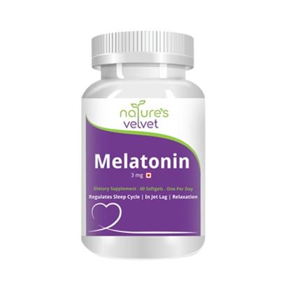 Picture of Natures Velvet Lifecare Melatonin 3mg Capsule