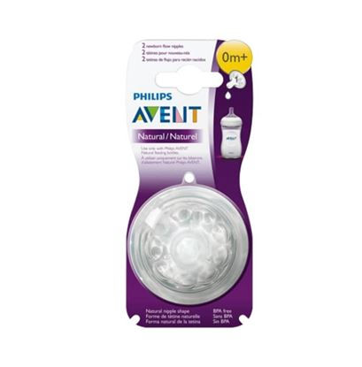 Picture of Philips Avent 1 Hole Newborn Flow Natural Teat