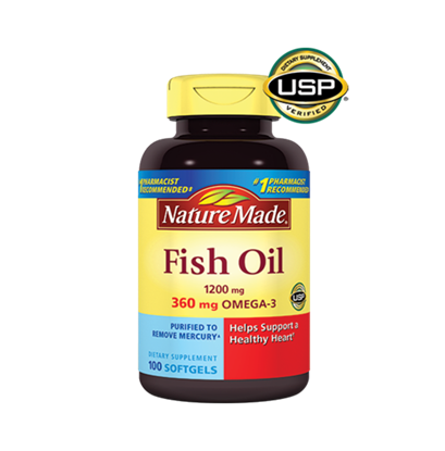 Picture of Nature Made Fish Oil Omega-3 1200mg Softgels