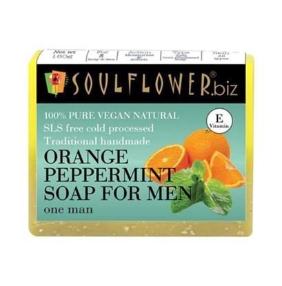 Picture of Soulflower Orange Peppermint Soap For Men