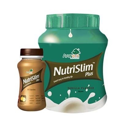 Picture of Ayurwin Combo Pack OF Nutrislim Plus, 60Caps & Nutrislim Plus Powder, 500gm (Vanilla)