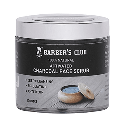 Picture of Barber's Club Activated Charcoal Face Scrub
