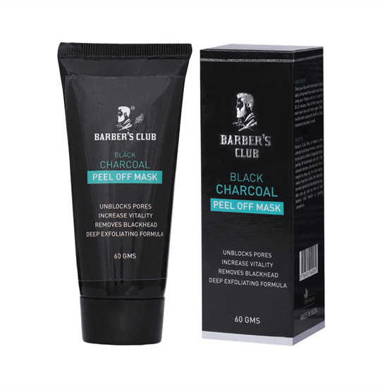 Picture of Barber's Club Black Charcoal Peel off Mask