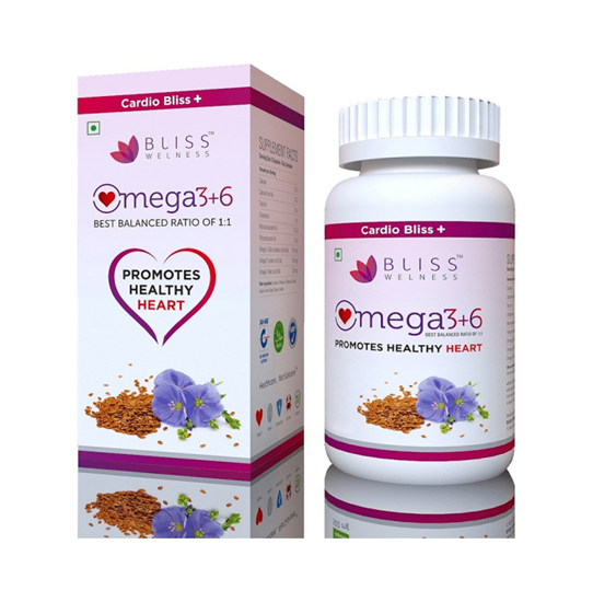 Picture of Bliss Welness Cardio Bliss + Omega 3 6 9 Vegetarian Capsule