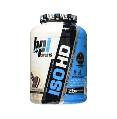 Picture of BPI Sports ISO HD 100% Whey Protein Isolate & Hydrolysate Cookies & Cream