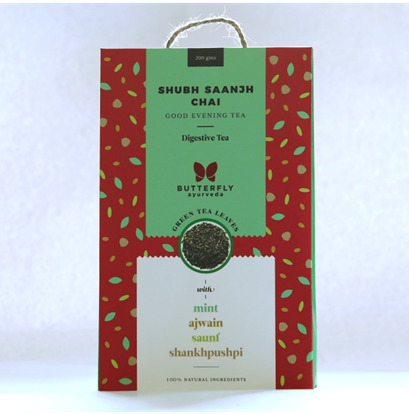 Picture of Butterfly Ayurveda Shubh Saanjh Chai Green tea Leaves
