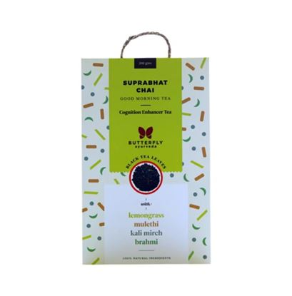 Picture of Butterfly Ayurveda Suprabhat Chai Black Tea Leaves with Lemongrass