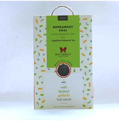 Picture of Butterfly Ayurveda Suprabhat Chai Black Tea Leaves with Tulsi