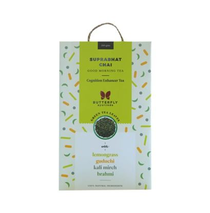 Picture of Butterfly Ayurveda Suprabhat Chai Green Tea Leaves with Lemongrass