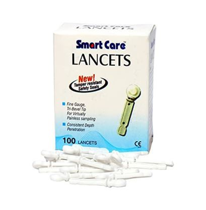 Picture of Smart Care Lancets Needle Flat White