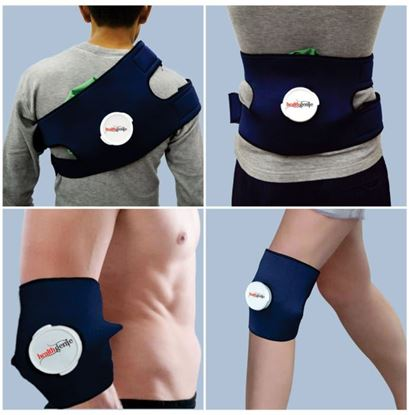 Picture of Healthgenie Combo of Hot and Cold Pain Relief Ice Bag Pack with Adjustable Wrap and Extension Band