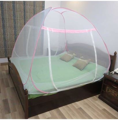 Picture of Healthgenie Double Bed Mosquito Net Pink