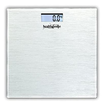 Picture of Healthgenie HD-221 Digital Weighing Scale Silver Brushed Metallic